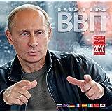 ウラジミールプーチン壁掛けカレンダー 2020用 サイズ:11.8x11.8インチ(30x30cm) 8言語(日本語、英語、ロシア語など)