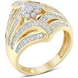 10K Yellow Gold Diamond Ring (1 cttw, I-J Color, I2-I3 Clarity)