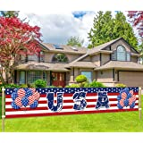 Large USA Banner, American Independence Day Party Supplies, 4th of July Decoration, Independence Day Decor, Love American Sig