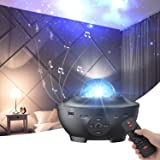 Star Projector with Bluetooth Speaker Remote Control Night Light with Moving Ocean Wave for Holiday Decor Mood Ambiance Home