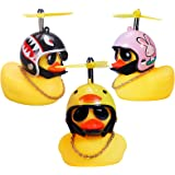wonuu Duck Car Dashboard Decorations 3pack Rubber Duck for Car Car Accessories Rubber Duck with Thruster Helmet Sunglasses, a