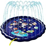 SnailBrother 2020 Upgraded 68 Inch Inflatable Blue Sky Splash Pad Water Pool Sprinkler Mat Toy for Kids Water Play