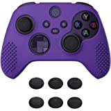 eXtremeRate PlayVital Purple 3D Studded Edition Anti-Slip Silicone Cover Skin for Xbox Series X Controller, Soft Rubber Case