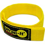 Wrap-It Storage Quick-Strap Cord Wraps, 12 inch (12 Pack) Yellow - Hook and Loop Strap, Extension Cord Holder for Boat Rope,