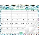 "2021 Wall Calendar - Monthly Hanging Calendar Planner 2021, 15"" x 11.5"", Spiral Twin-Wire Binding, Large Blocks with Julian D"