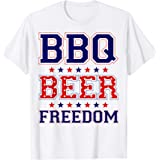 BBQ Beer Freedom Tシャツ