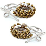 Prisha India Craft Kathak Ghungroo Pair, (25+25) (16 No. Ghungroo) Big Bells Tied with CottonCord Indian Classical Dancers A