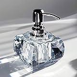 Shower dispensers,Bathroom Detergent Bottle,Manual soap Dispenser,Detergent Bottle Crystal Glass Desk Ornaments Hotel Club Ho