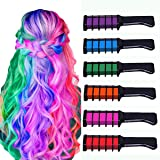 Hair Chalk for Girls,MSDADA Kids Temporary Bright Hair color, Washable Color for Kids Hair Dyeing,Birthday Gift for Girls,Hal