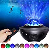 Star Projector Night Light, ALED LIGHT 2-in-1 Ocean Wave LED Starry Night Light Projector Built-in Bluetooth Speaker Sound Se