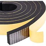 YoTacheクッションテープ 防音 防水 静音テープ 気密防水パッキン 冷暖房効率アップ 25mm (幅) x 10mm (厚さ) x 2m (長さ) x 2本