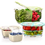LUXEAR Produce Saver Veggie Fruit Storage Containers BPA-free Food Storage Container with Vent - Partitioned Stay Fresh Stora