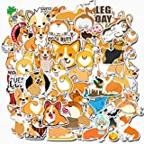 Animal Corgi Stickers for Hydroflasks Water Bottles 50 PCS (Welsh Corgi Pembroke)