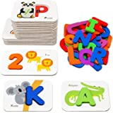 Number and Alphabet Flash Cards for Toddlers 2-4 Years, ABC Montessori Educational Toys Gifts for 2 3 4 year old Preschool Le