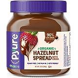 Organic Hazelnut Spread with Cocoa by Pyure   Keto Friendly, No Palm Oil, Vegan, Peanut Free   90% Less Sugar Than the Market