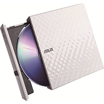 ASUS バスパワー対応外付けポータブルDVDドライブ M-disc対応/スリムタイプ/Win/Mac対応/書込みソフト付属/ホワイト SDRW-08D2S-U LITE/WHT