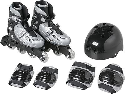 Kaiser(カイザー) インライン スケート セット シェルブーツ タイプ KW-465 21.5~23cm 調節可 ローラー エルボーパット ニーパット ヘルメット