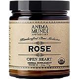 Anima Mundi Rose Petal Powder - Organic 'Open Heart' & Mood Support Rose Powder for Teas, Lattes & Water (2.5oz / 71g)