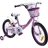 子供自転車 Cyfie クリスマス 自転車 お姫様気分 森ガール イギリス風 可愛い 補助輪付き カゴ付き 組み立て式…