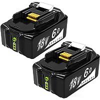 Mrupoo バッテリー BL1860B マキタ バッテリー 18v 6.0Ah 互換バッテリー LED残量表示付き 高…