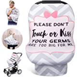 Nursing Cover for Baby Breastfeeding, Car Seat Covers for Babies, Stretchy Newborn Car Seat Canopy, Soft Breathable Infant St