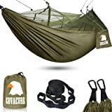 Camping Hammock with Mosquito Net - Lightweight COVACURE Double Hammock, Portable Hammocks for Indoor,Outdoor, Hiking, Campin