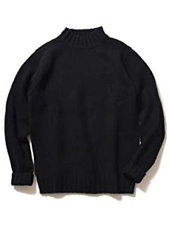 3 Gauge Wool Mock Neck Sweater 51-15-0281-202: Black