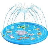 Dreampark 噴水マット プレイマット 噴水プール ウォーターマット 水遊び 親子遊び アウトドア 芝生お庭など 誕生日プレゼント 家族 172CM