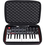 LTGEM EVA Hard Case for Akai Professional MPK Mini MKII | 25-Key Ultra-Portable USB MIDI Drum Pad & Keyboard Controller (blac
