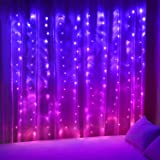 Curtain Lights Pink Purple Fairy Lights for Bedroom Wall Hanging Christmas Lights Twinkly Led Twinkling for Teen Girls JoJo S