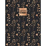 2021: Diary A4 Week to View on 2 Pages WO2P Weekly Planner | Large Horizontal Lined Journal | Black & Gold Copper Floral Bran