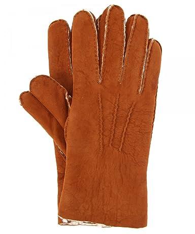 Shearling Glove 1437-699-1040: Dark Brown