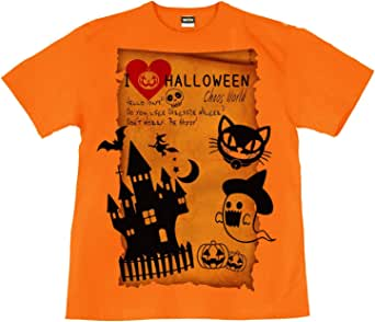 [GENJU] Tシャツ ハロウィン スカル 幽霊 イベント カボチャ 裏もデザイン有 メンズ キッズ