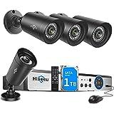 Hiseeu 8CH Security Camera System 1080N AHD Video DVR Recorder 1TB HDD Pre-Install with 4X HD 2000TVL 1080P Night Vision Home