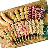 鶏肉専門店梅や 焼き鳥セット 6種類(22本) [国産 もも 砂肝 つくね 皮 ソーセージ やきとり 通販 取り寄せ 1kg 1キロ]