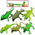 Lizards Toys,9-Inch Rubber Lizard Set(6 Packs),Food Grade Material Tpr Super Stretchy,With Learning Study Card Gift Box-Reali