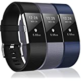3 Pack Bands Compatible with Fitbit Charge 2, Classic & Special Edition Replacement Bands for Fitbit Charge 2, Small