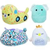 """Squishville SQM0165 Carriage & Diego Two 2"""" Mini-Squishmallow Swan and Elephant, Plush Carriage and Truck Vehicles, Irresisti"""