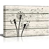 Wall26 - Dandelion in Wind Artwork - Rustic Canvas Wall Art Home Decor - 16x24 inches