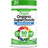 Orgain Organic Green Superfoods Powder, Original - Antioxidants, 1 Billion Probiotics, Vegan, Dairy Free, Gluten Free, Kosher