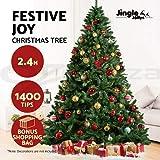 Scenic Jingle Jollys 2.4M 8FT Christmas Tree Xmas Decoration Green Home Decor Bonus Bag
