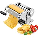 Pasta Machine, iSiLER 150 Roller Pasta Maker, 9 Adjustable Thickness Settings Noodles Maker with Washable Aluminum Alloy Roll