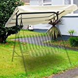 """Yescom 76 3/8"""" x 44 1/8"""" Outdoor Swing Cover Replacement Canopy UV30+ 180gsm Top for Porch Patio Garden Pool Seat"""