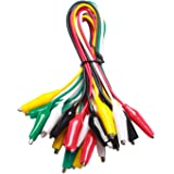 WGGE WG-026 10 Pieces and 5 Colors Test Lead Set & Alligator Clips 20.5 inches