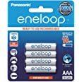 Panasonic AAA Ready-To-Use Ni-MH Rechargeable Eneloop Batteries, 4-Pack (BK-4MCCE/4BA)