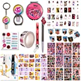 Fatyi Twice Gift Set with Lomo Card, Sticker, 3D Sticker, Pen,Mirror, Tape,Wristband, Lanyard,and Hanging Flag