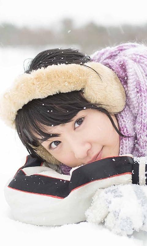 乃木坂46 生駒里奈ファースト写真集『君の足跡』 雪の上で寝る FVGA(480×800)壁紙 画像43607 スマポ