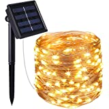 LED Solar String Lights Outdoor, 72ft 200 LED Solar Powered Fairy Light with 8 Lighting Modes,Waterproof Outdoor Solar Lighti