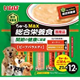いなば ドッグフード ちゅ~るMax 総合栄養食 ビーフバラエティ 27g×12本