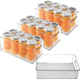 Set of 4 Fridge Organizer, Premium Acrylic Refrigerator Organizer Bins, Stackable BPA-Free Clear Pantry Organizer Storage Bin